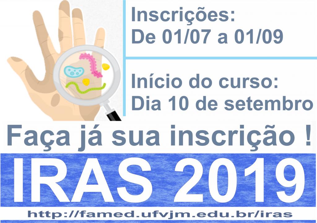 Inscrições para o curso IRAS