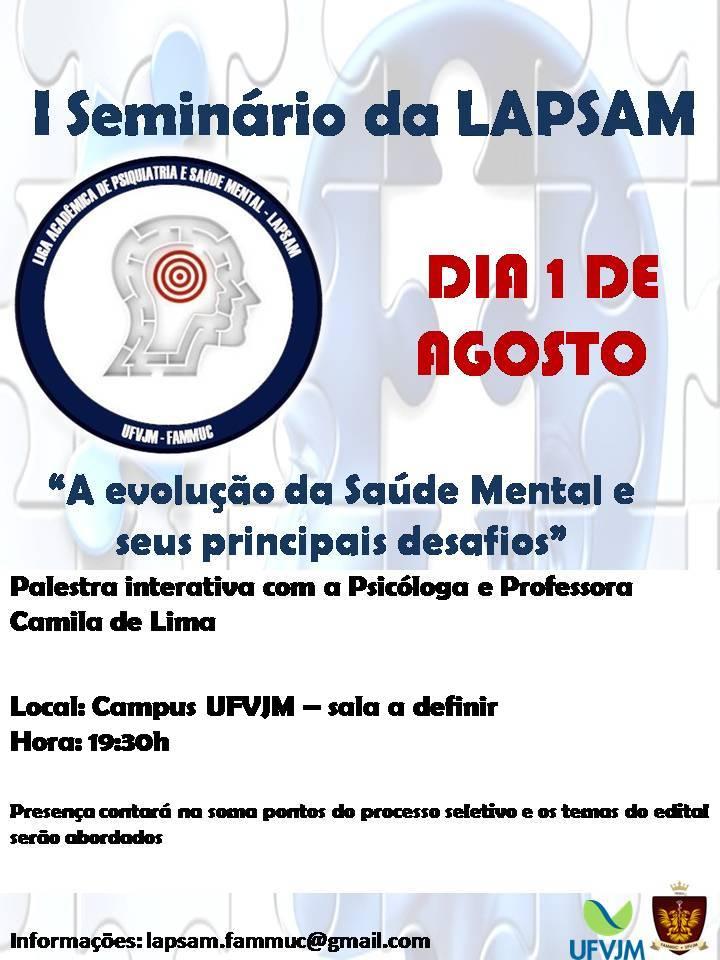 Seminário Liga de Saúde Mental