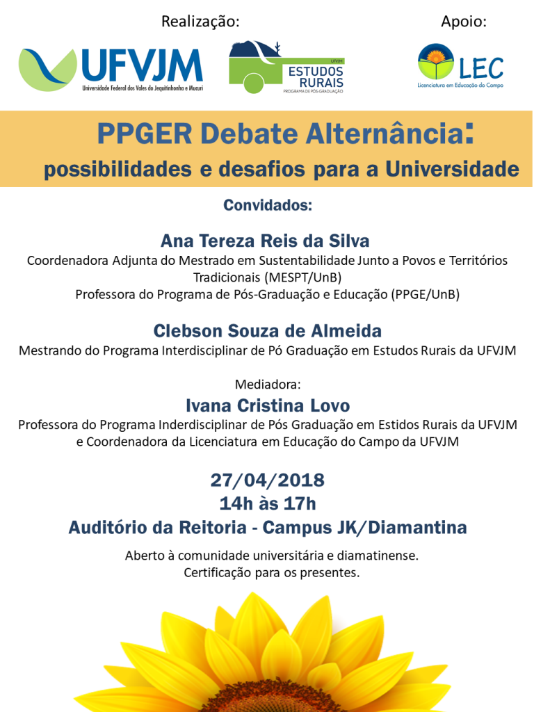 PPGER Debate Alternância