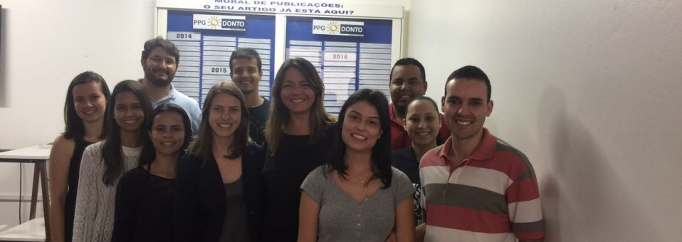 Alunas da UFSC fazem estágio no PPGOdonto sob a orientação da Profª Maria Léticia Ramos Jorge
