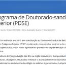 Edital PDSE Capes 2017/2018