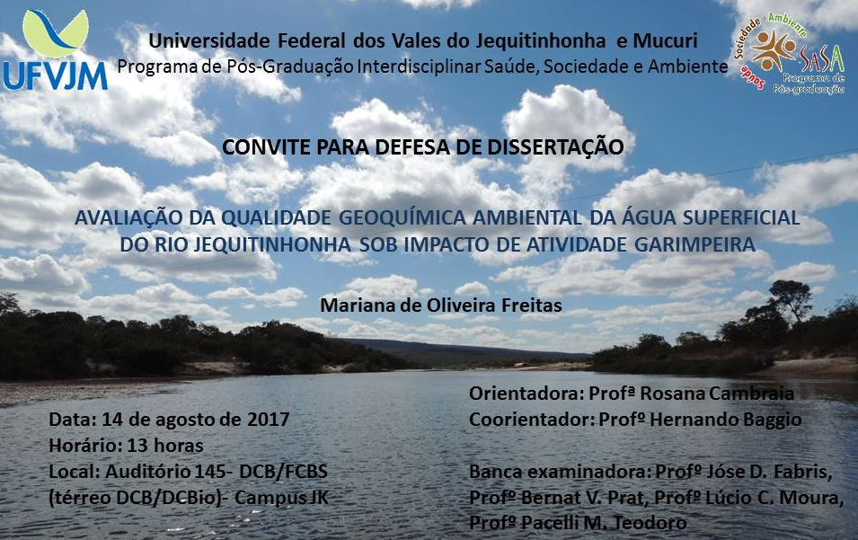 Convite defesa Mariana
