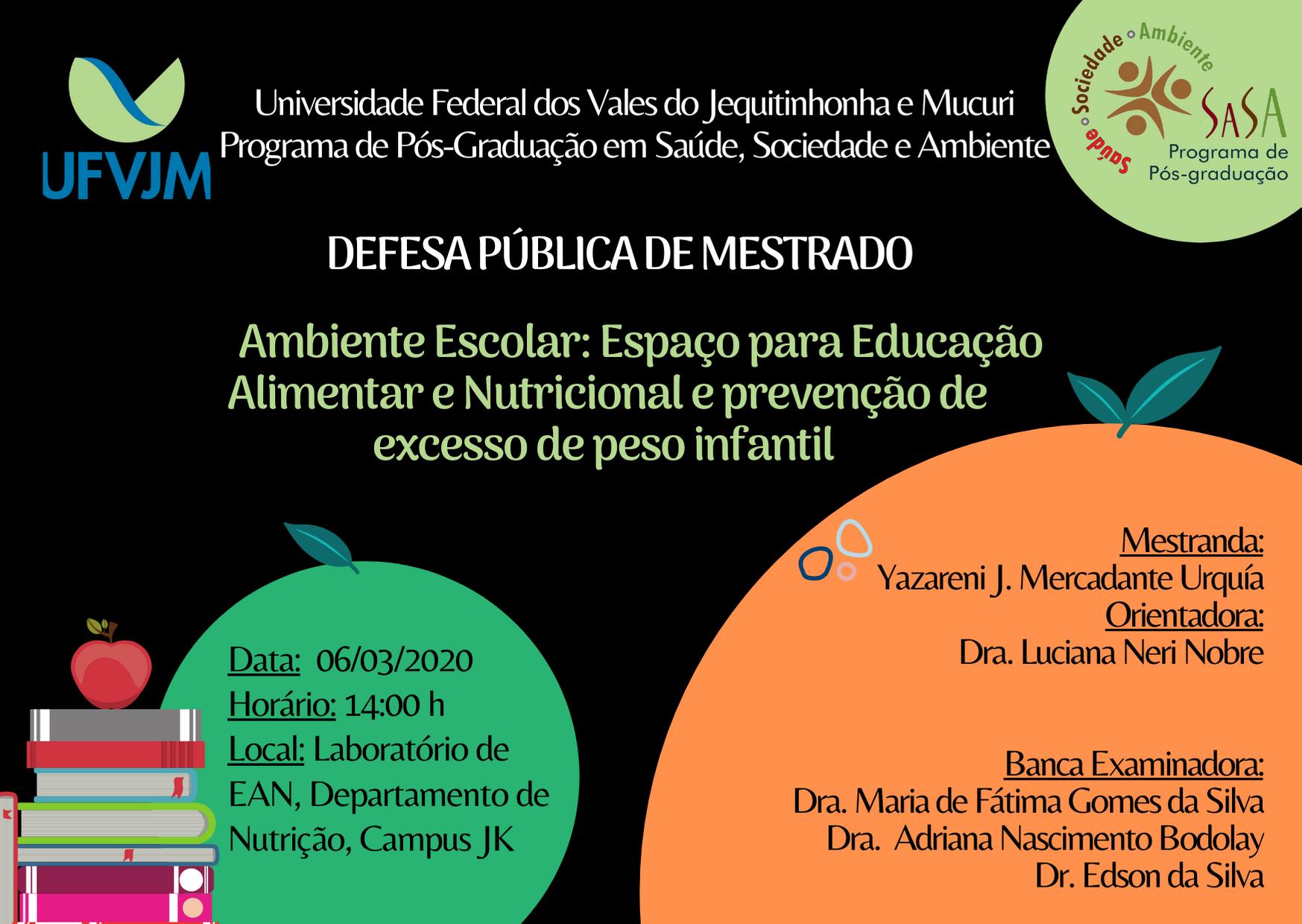 Convite Público defesa Yazareni